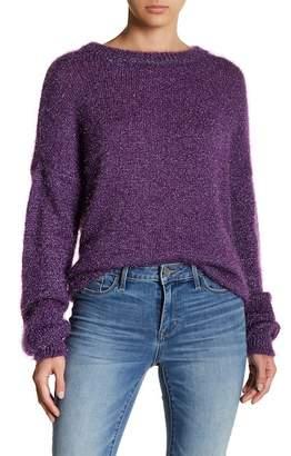 Vero Moda Delfa Metallic Fuzzy Knit Sweater