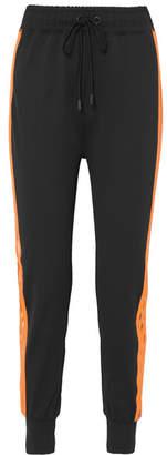 Ganni Presbourg Mesh-trimmed Jersey Track Pants - Black