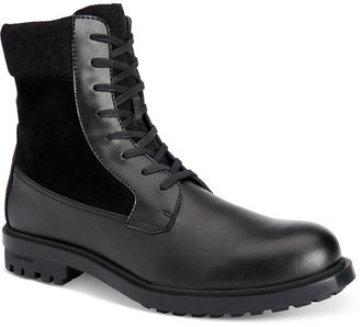 Calvin Klein Men's Gable Leather Casual Boots $165 thestylecure.com