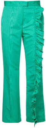 MSGM ruffle tailored trousers