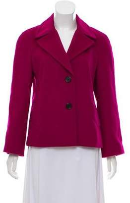 DKNY Wool-Blend Short Peacoat w/ Tags Magenta Wool-Blend Short Peacoat w/ Tags