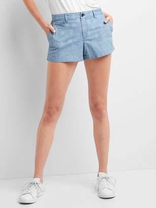 Gap Chambray paisley shorts