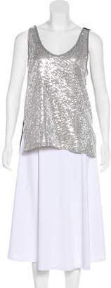 Diane von Furstenberg Desta Sequin Embellished Tunic