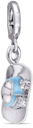Laura Ashley FINE JEWELRY Laura Asley Tea Party Collection White Sapphire Sterling Silver Charm