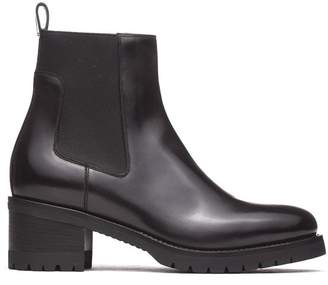 Santoni Anckle Boots In Black Leather