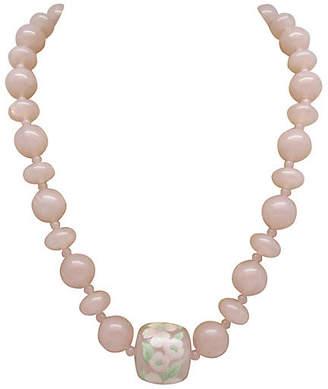 One Kings Lane Vintage Faux-Pink Quartz Necklace - Thanks for the Memories