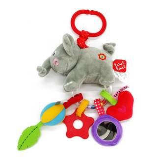Bottega Veneta Ver VER Label-Label LL-FR13818 Grab Toy Elephant Grey