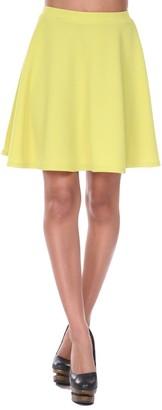 Women's White Mark Plain Heidi Flare Skirt