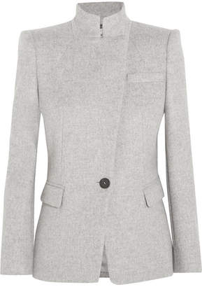 Alexander McQueen - Brushed-wool Jacket - Gray $2,285 thestylecure.com