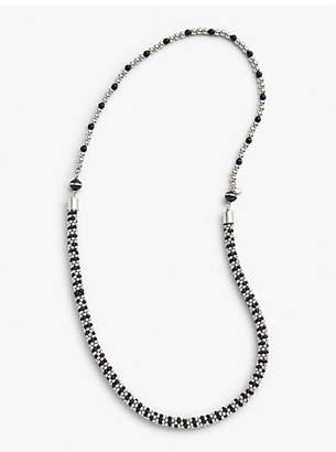 Talbots Stripe Bead Layer Necklace