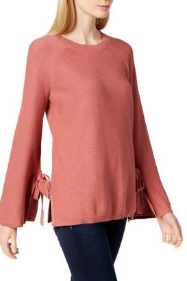 Vince Camuto Two By wo By Womens Earth Pink Texture Stitch Top