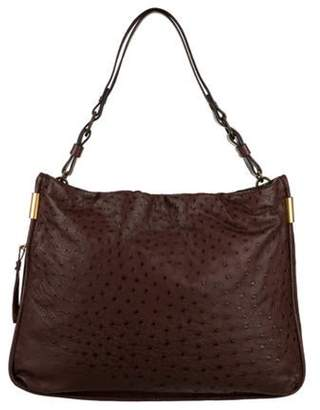Lanvin Ostrich Tote Bag brown Ostrich Tote Bag