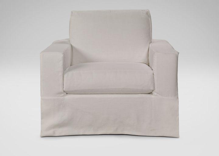 Ethan Allen Hudson Slipcovered Chair