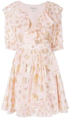 Temperley London Riviera ruffle wrap dress