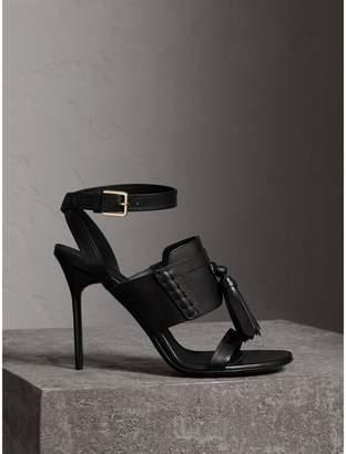 Burberry Tassel Detail Leather Sandals