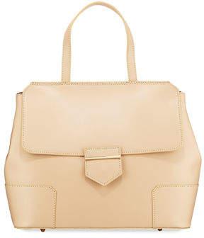 Neiman Marcus Saffiano Top-Handle Satchel Bag