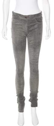 Les Chiffoniers Coated Leather Leggings w/ Tags