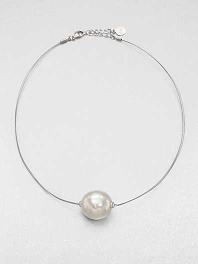 Majorica 22MM Baroque Pearl Wire Necklace
