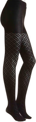 Me Moi MeMoi Diamond Argyle Tights - Women's