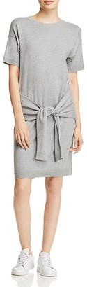 Vince Sleeve Tie Jersey Dress $195 thestylecure.com