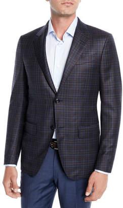 Ermenegildo Zegna Men's Two-Tone Check Wool Jacket