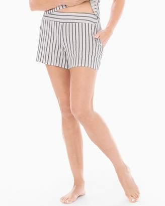 Cool Nights Full Tap Pajama Shorts Heritage Stripe Ivory