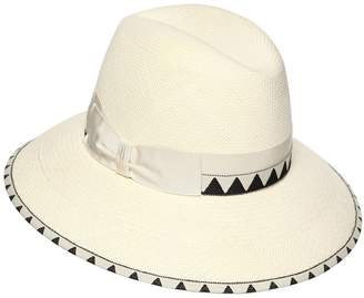 Borsalino Claudette Navajo Medium Brim Straw Hat