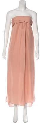 Cacharel Silk Strapless Dress