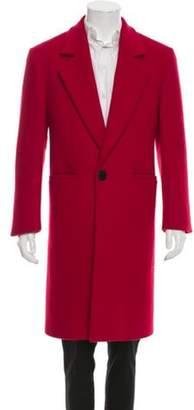 Versace Wool Notch Lapel Overcoat red Wool Notch Lapel Overcoat