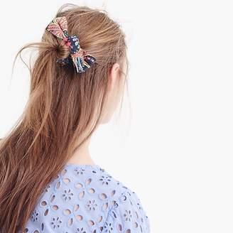 J.Crew Bow hair tie in flower field