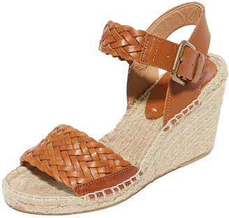 Soludos Woven Leather Wedge Espadrilles $149 thestylecure.com