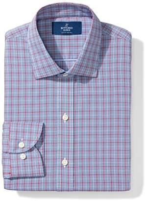 Buttoned Down Men's Slim Fit Plaid Non-Iron Dress Shirt