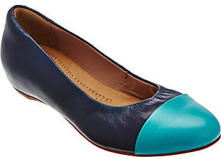Clarks Artisan Leather Cap Toe Slip-on Flats- Alitay Susan