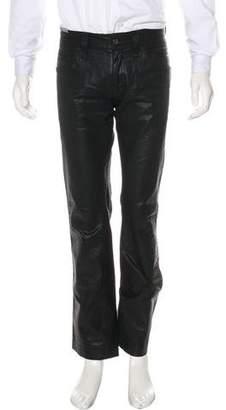 Dolce & Gabbana Coated Straight-Leg Jeans