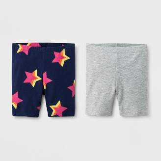 Cat & Jack Toddler Girls' Bike Shorts - Cat & JackTM Blue/Gray
