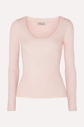 Temperley London Joan Ribbed-knit Sweater - Neutral