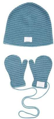 Hermes Girls' Cashmere Beanie & Mittens Set w/ Tags