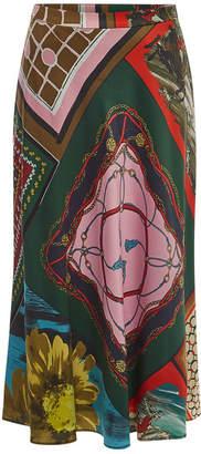 Moschino Printed Midi Skirt