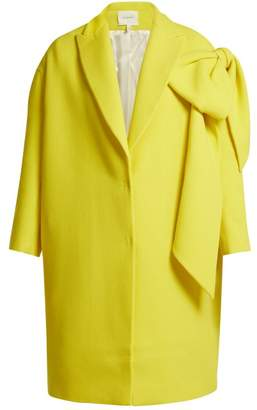 DELPOZO Bow Embellished Wool Coat - Womens - Yellow