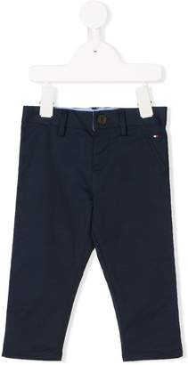 Tommy Hilfiger Junior logo embroidered chino trousers