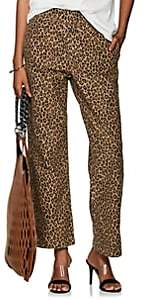 R 13 Women's Leopard-Print Cotton Crop Trousers