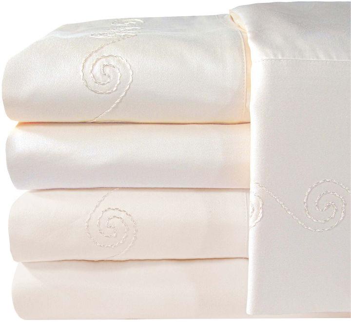 American Heritage 1200tc Egyptian Cotton Sateen Swirl Sheet Set