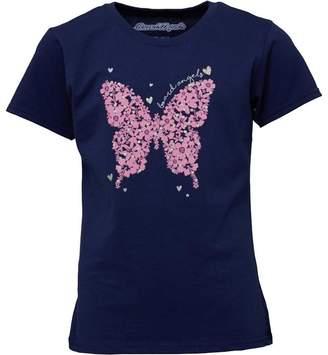 Board Angels Girls Butterfly Print T-Shirt Navy