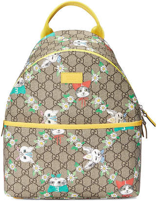 Gucci Kids Children's GG pets backpack