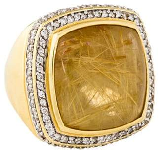David Yurman 18K Rutilated Quartz & Diamond Albion Ring yellow 18K Rutilated Quartz & Diamond Albion Ring