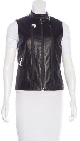 J BrandJ Brand Leather Moto Vest w/ Tags