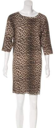 Lanvin Wool Animal Print Dress