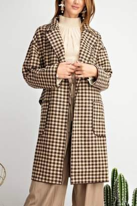 Easel Classy Plaid Coat