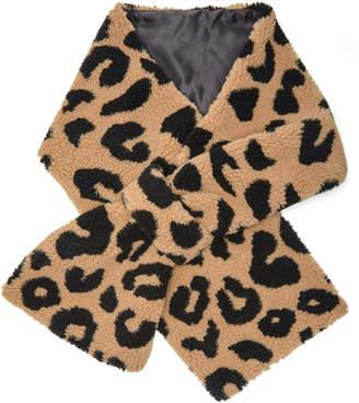 Apparis Exclusive Shelley Leopard-Print Faux Fur Scarf