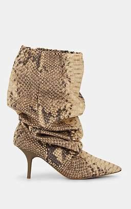 "Yeezy Women's ""Track Pant"" Tech-Fabric Knee Boots - Neut. pat."